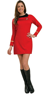 Star Trek Classic Red Dress Deluxe Adult Costume