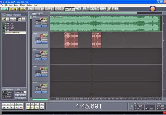 Hướng dẫn thu âm trên máy tính với Cool Edit Pro