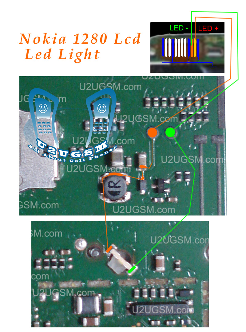Nokia 1280 Led Lcd Light Solution