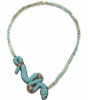 Turquoise Gabon Necklace - by Suzanna Dai - via Boticca