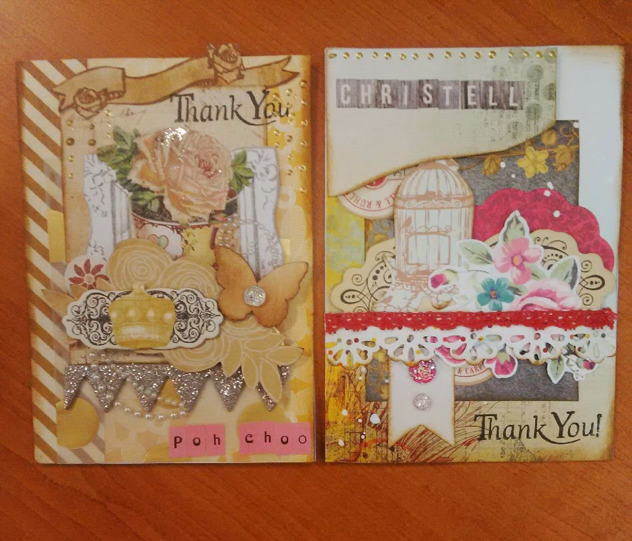 Custom Handmade Thank You Farewell Cards