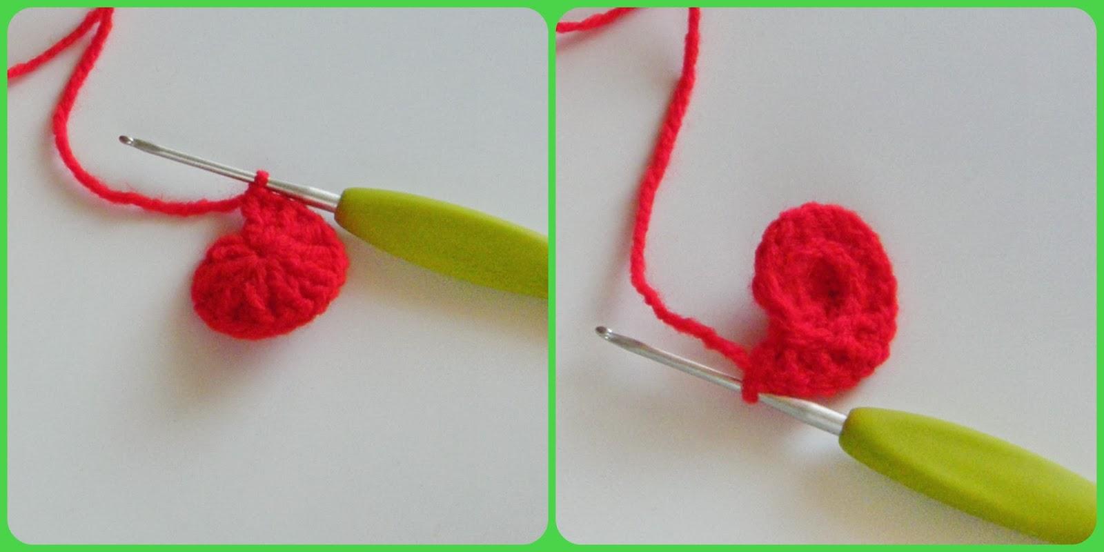 вязаное сердце этап второй