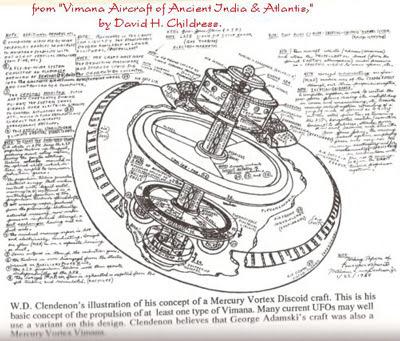 plano de construcción de un vimana