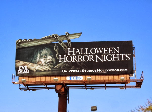 Evil Dead Halloween Horror Nights extension billboard