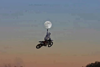 Catching Moon Optical Illusion