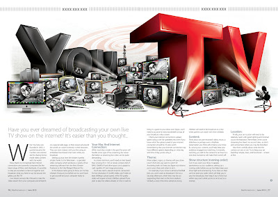 Simon Brader Illustration - MacFormat 'You TV'