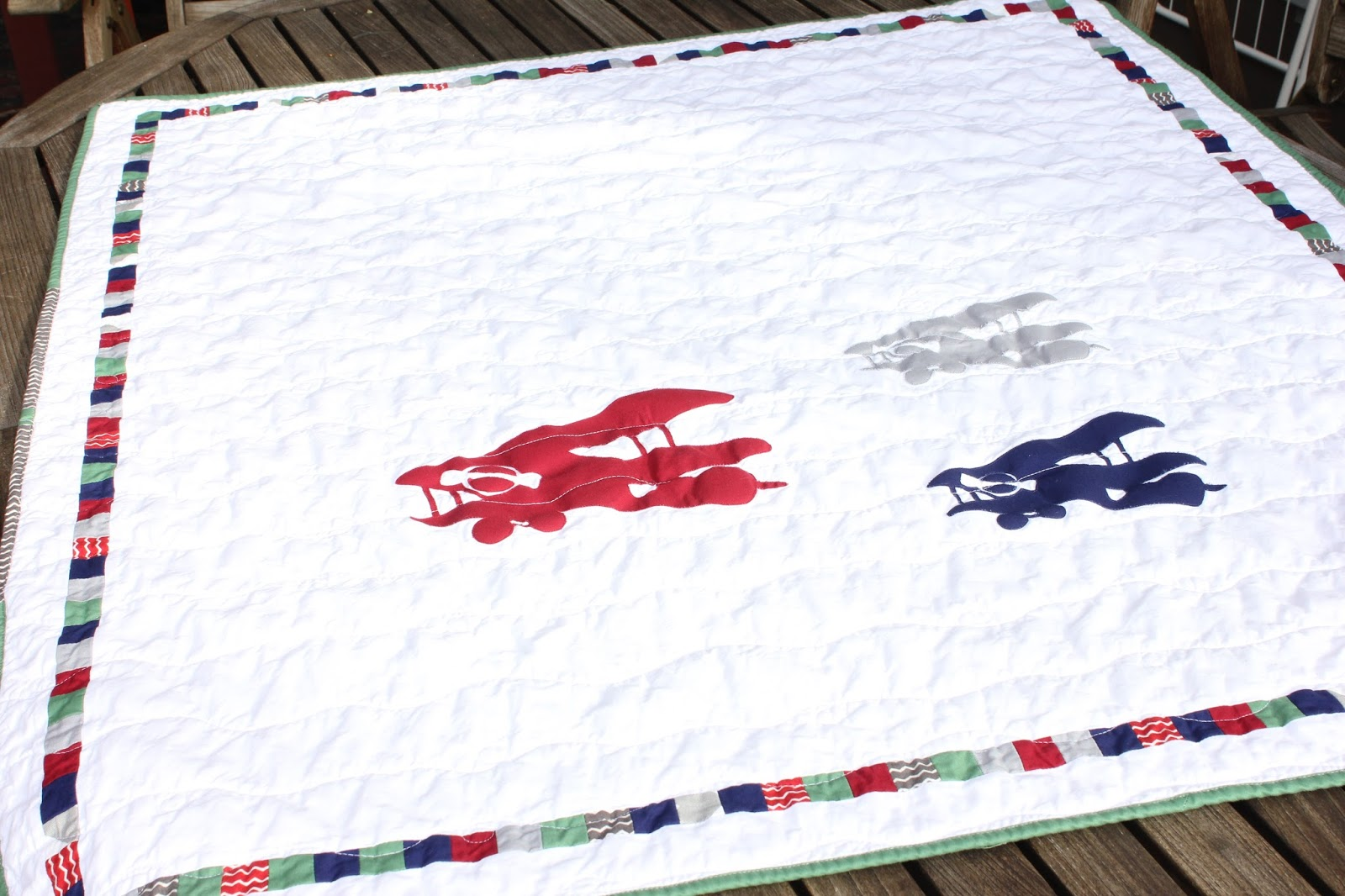 Shiner S View Vintage Airplane Baby Quilt