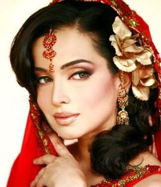 Nice pakistani Bridal Hair styles for womens 2013