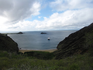 Looking down at Punta Pitt on San Cristobal Island, Galapagos