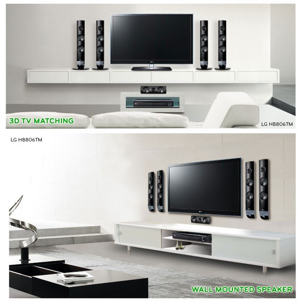 LG Home Theater 806 Series, Pasangan Ideal TV 3D Anda