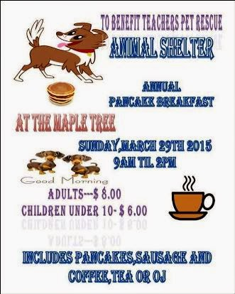 3-29 Pancake Breakfast Teachers Pet