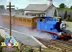 Thomas and Thomas the tank engine characters Annie and Clarabel are two faithful railway coaches