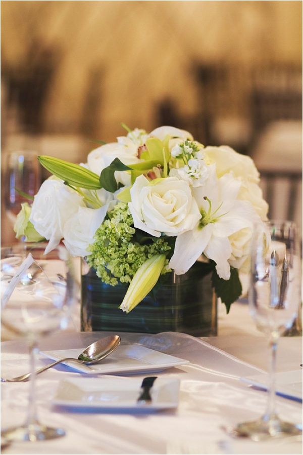 white centerpiece // photo credit: closer to love photography & design