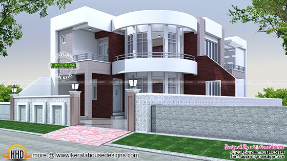 40x75 cute modern house plan
