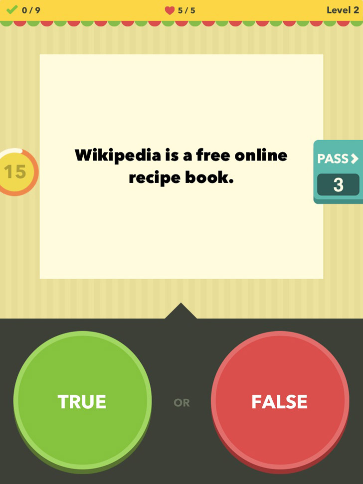 True Or False - Test Your Wits! App iTunes App By Games for Friends GmbH - FreeApps.ws