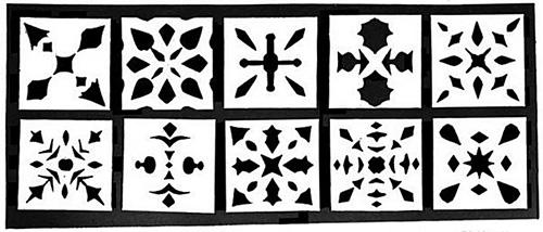 Paper cut out patterns