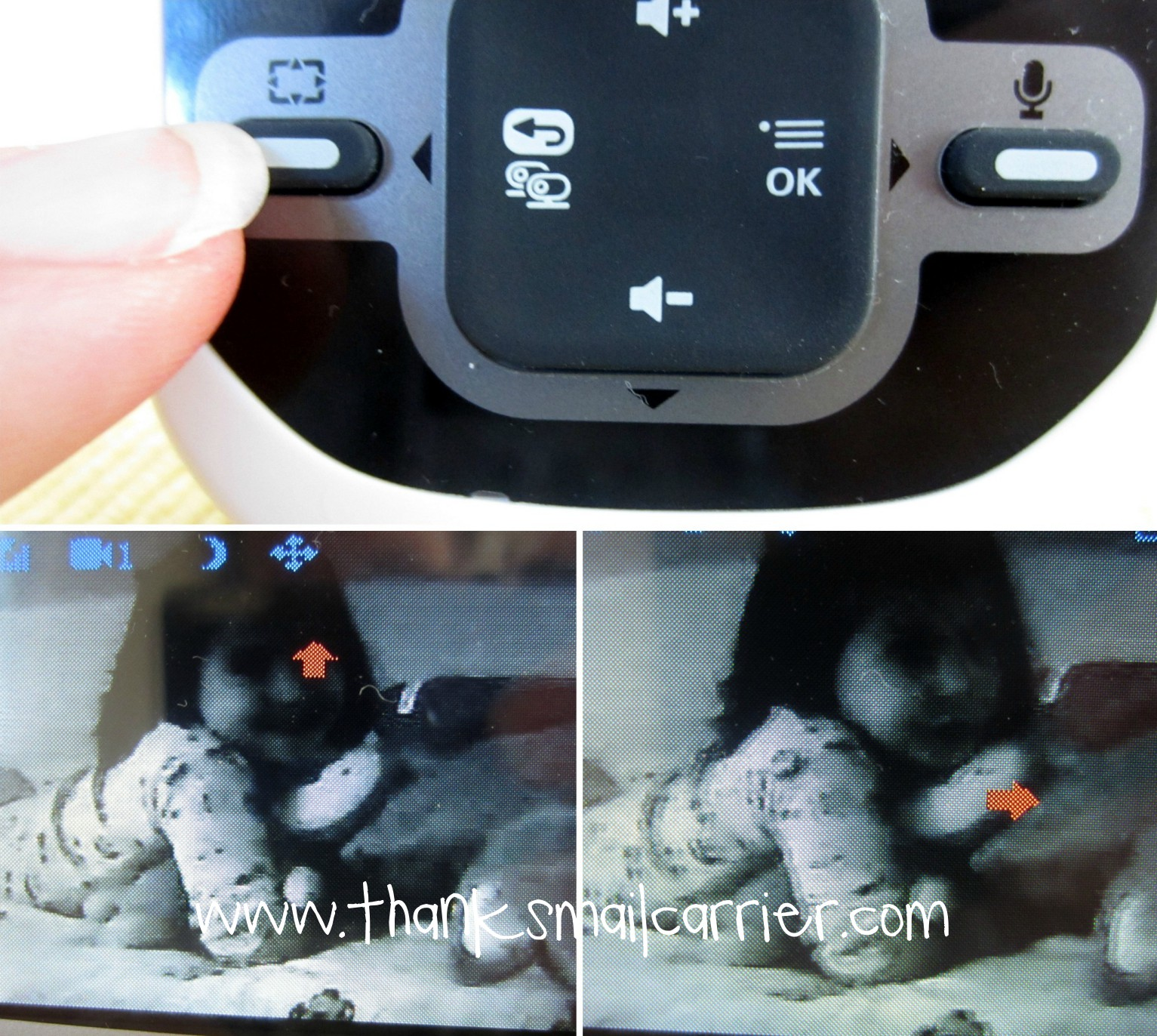 baby monitor pan and tilt