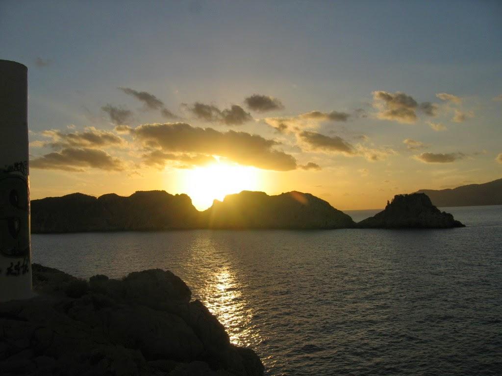 îles Malgrats, crépuscule