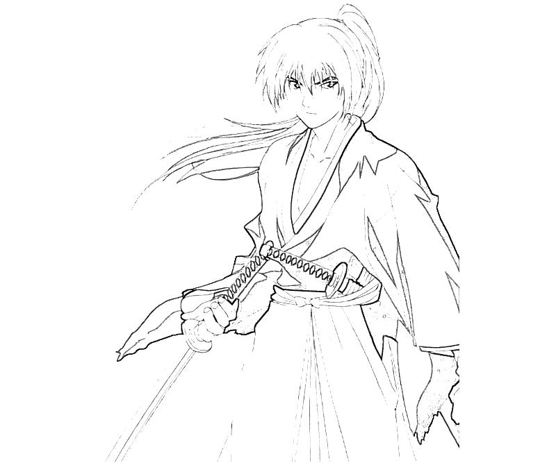 coloring pages for rurouni kenshin - photo#19