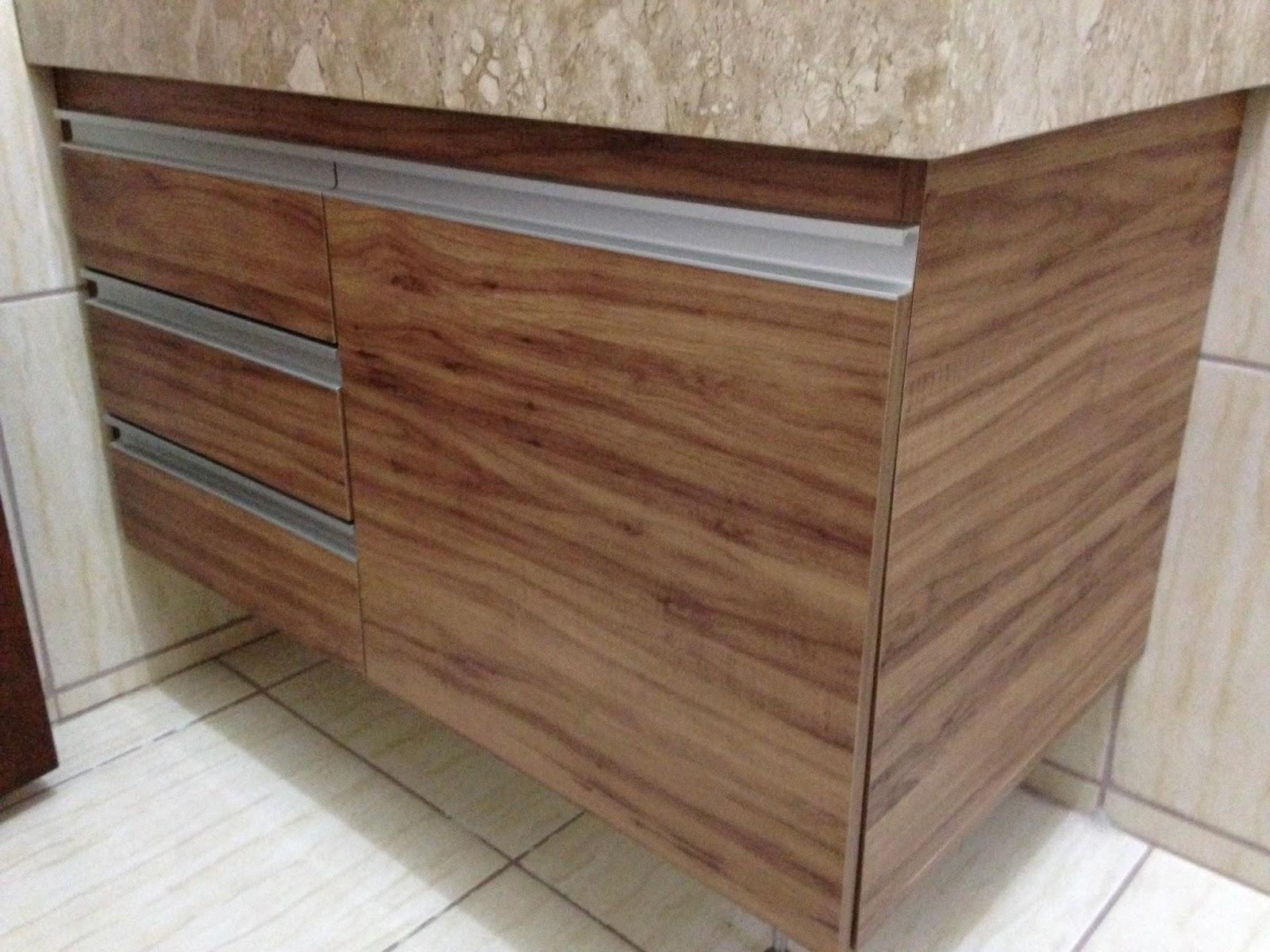 Banheiro (Padrão Amêndola Rústica) Portas em 18mm Corrediças  #452C21 1600x1200 Armario Banheiro De Aluminio