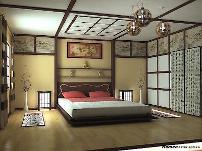 diseño de dormitorio japonés