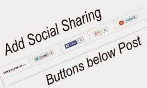Como adicionar social Sharing Widget abaixo Posts do Blog