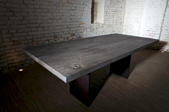 bearbeitung eines runden eichentischs woodworker. Black Bedroom Furniture Sets. Home Design Ideas