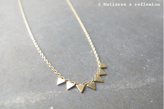 Collier triangles doré Stalactite Paris