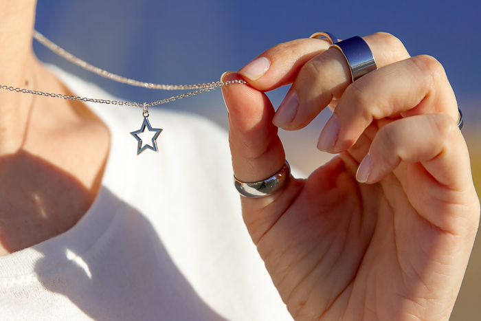 Jewels: Silver Silhouette Star Pendant STAR Collection by CHAVIN