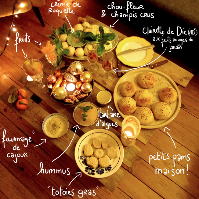 repas de Noël végétarien - http://spicerabbits.blogspot.fr/