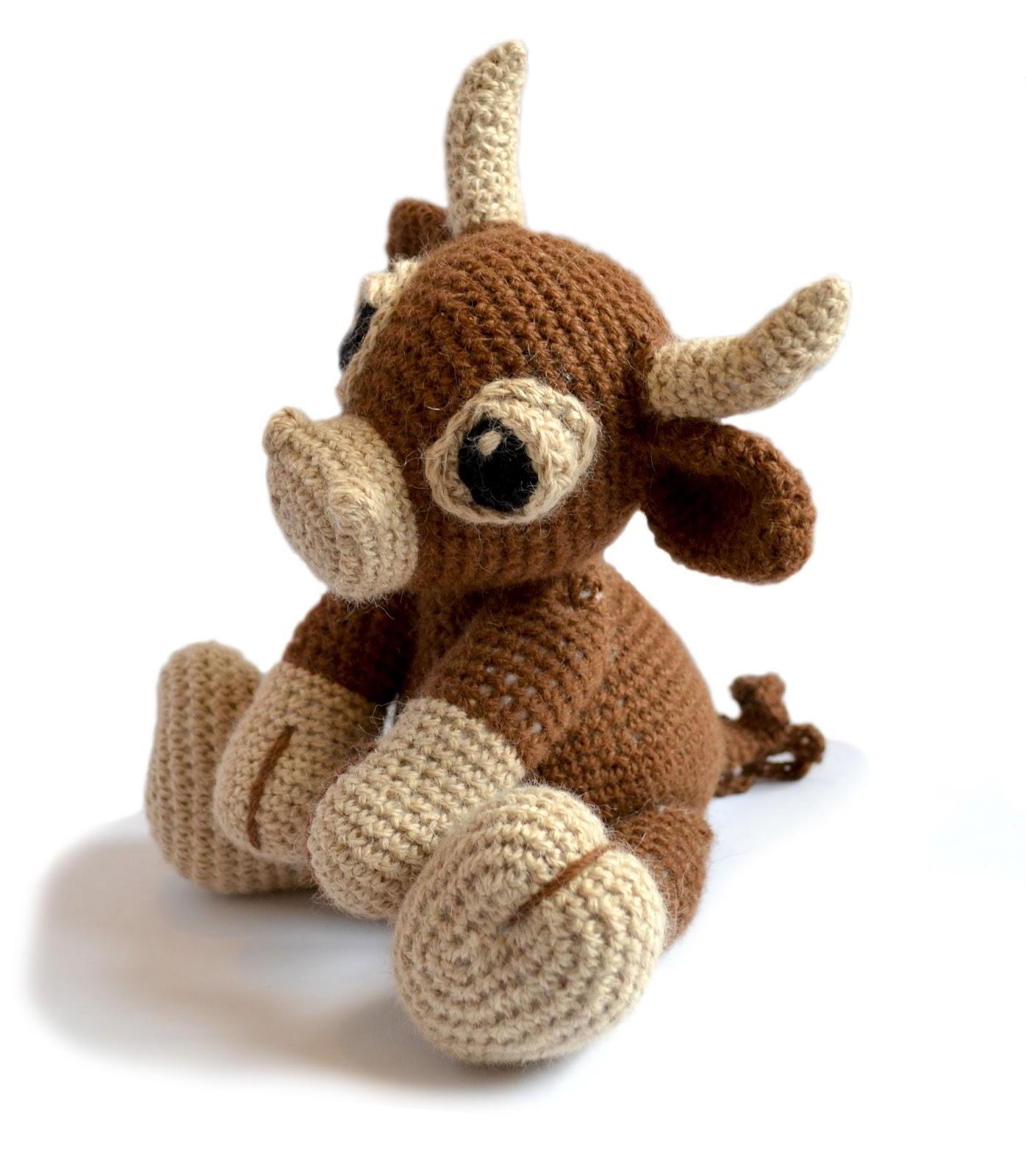 Amigurumi Yarn Eyes : Patchwork Moose
