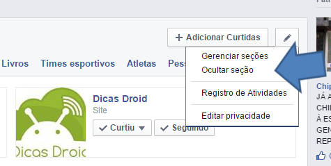 Como ocultar as curtidas do Facebook