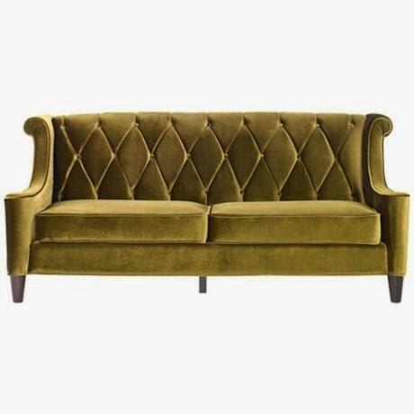 heir and space: i want a velvet sofa