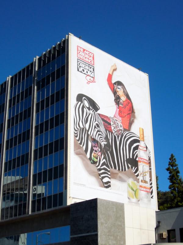 Stoli Vodka Original entrance zebra billboard