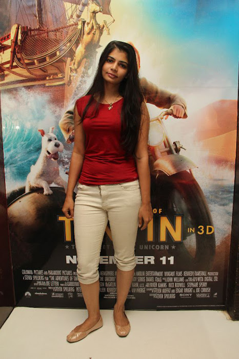 simbu dhanshika @ the adventures of tin tin premiere event unseen pics