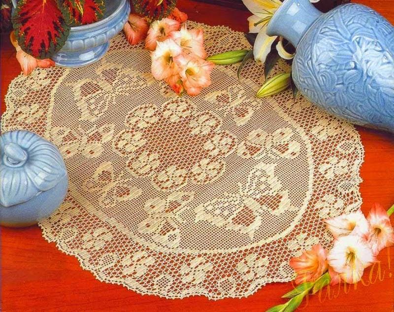 5 patrones crochet de centro de mesa ovalado crochet y