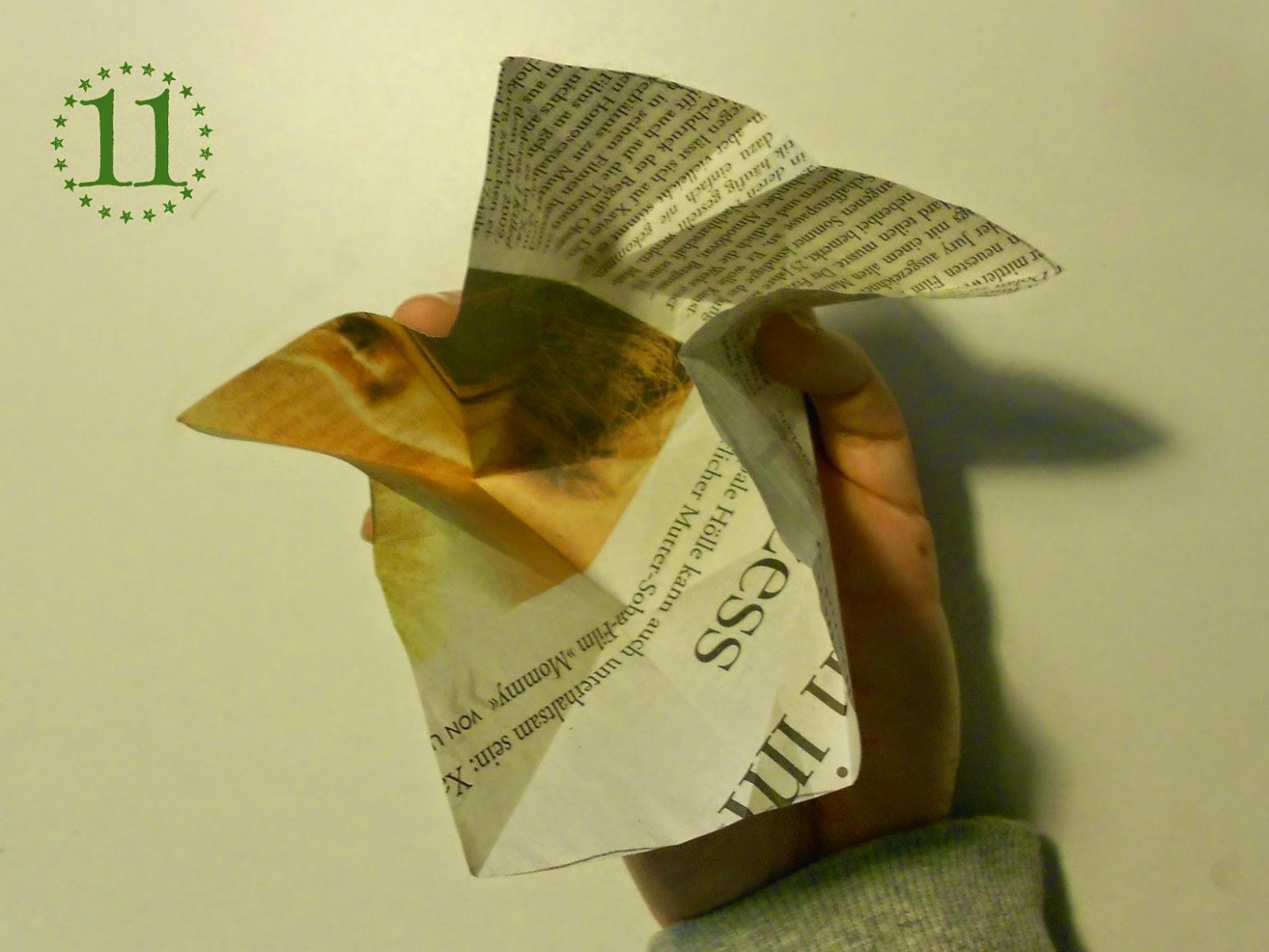 Papierstern - Schritt 11