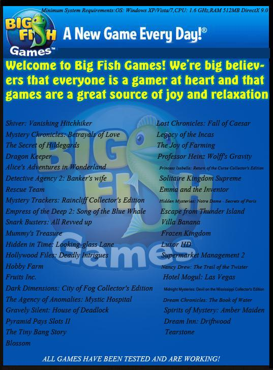 Bigfish games collection