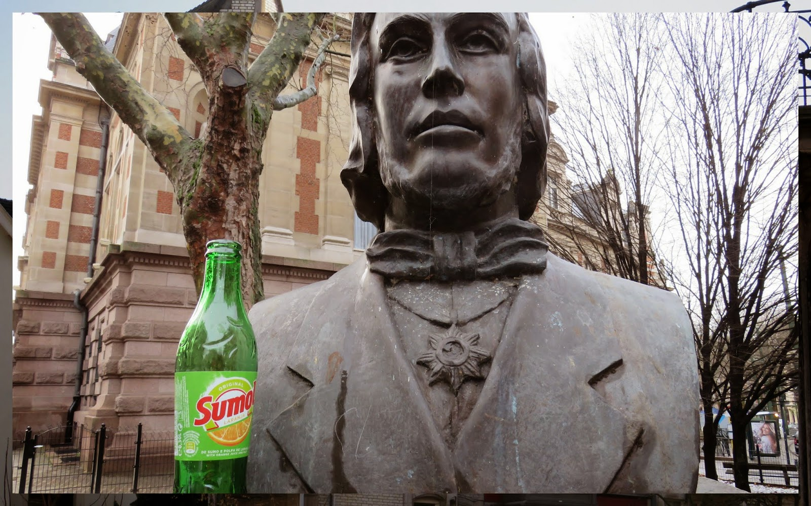 Brussels - Statue with Soda Bottle