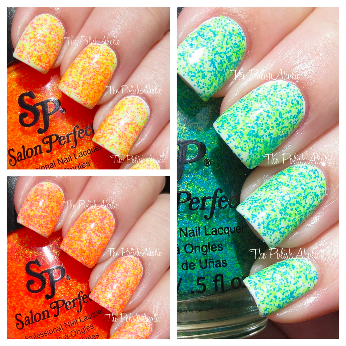 The PolishAholic: Salon Perfect Neon Collision Collection Swatches