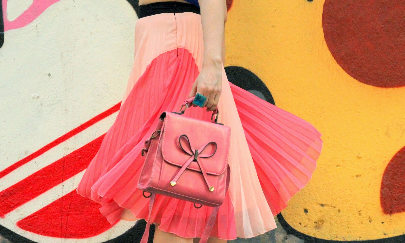 Pink Now Box Bag
