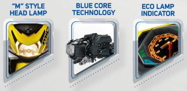 Yamaha Mio M3 125 Blue Core - Desain Lampu, Mesin dan Eco Lamp Indocator