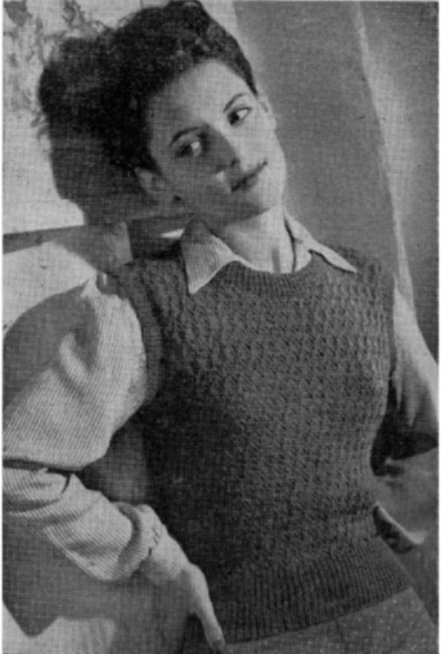 1940's Knitting - Women's Smart Slipover free pattern