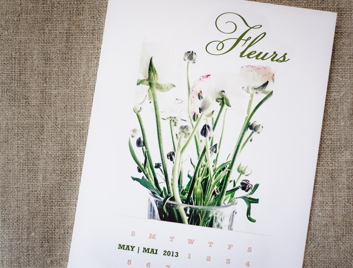 downloadable flowers calendar May 2013