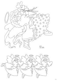 Desenhos Para Pintar Anjos de folga
