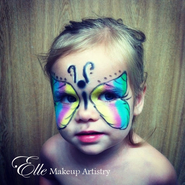 Elle Makeup Artist: Kids Halloween Makeup - Butterfly