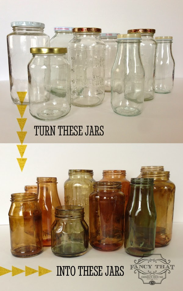 Color Tinted Glass Jars