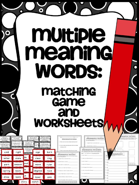 Multiple Meaning Words - Mrs. Leiterman
