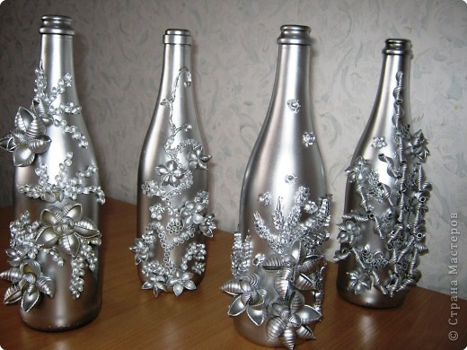 Декорации бутылок своими руками