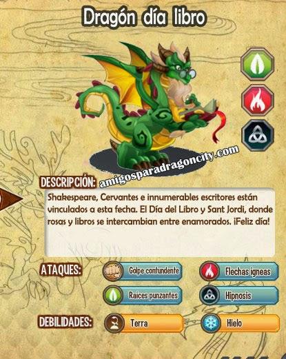imagen de las caracteristicas del dragon dia libro